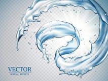 Éclaboussement des effets de l'eau illustration stock