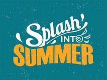 Éclaboussez dans l'été Composition en lettrage d'été illustration libre de droits