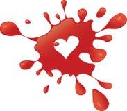 Éclaboussez le coeur Photo libre de droits