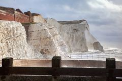 Éclaboussez le point, Seaford, East Sussex images stock