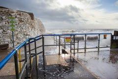 Éclaboussez le point, Seaford, East Sussex photos stock