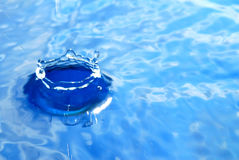 Éclaboussure bleue Images libres de droits
