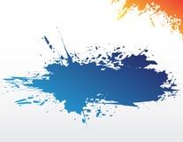 Éclaboussure bleue Photos libres de droits