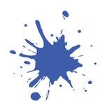 Éclaboussure bleue de peinture Images libres de droits