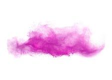 Éclaboussure colorée de poudre d'isolement sur le fond blanc Photos stock
