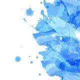 Éclaboussure d'aquarelle, bannière artistique abstraite de texture de fond illustration de vecteur