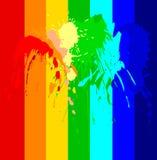 Éclaboussure d'encre de couleur Photo libre de droits
