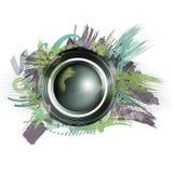 Éclaboussure d'explosion de haut-parleur et couleurs et formes pourpres Images stock