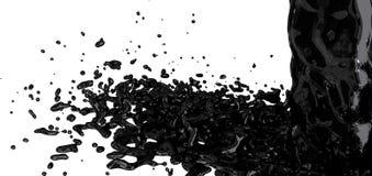 Éclaboussure d'huile Image libre de droits