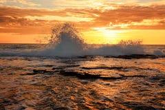 Éclaboussure d'océan photo stock