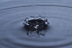 Éclaboussure de baisse de l'eau dans la forme de couronne Images libres de droits