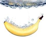 Éclaboussure de banane Photo libre de droits