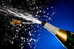 Éclaboussure de Champagne. Images libres de droits