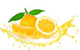 Éclaboussure de citron Photos libres de droits