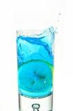 Éclaboussure de citron en glace Photos stock