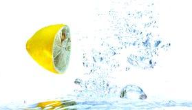 Éclaboussure de citrons Image stock