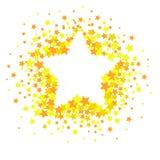 Éclaboussure de confettis d'étoile de vecteur d'isolement sur le fond blanc Modèle avec de petites étoiles Modèle créatif moderne illustration de vecteur
