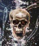Éclaboussure de crâne photographie stock