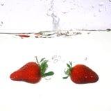 Éclaboussure de fraise image libre de droits