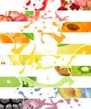 Éclaboussure de fruit Photographie stock