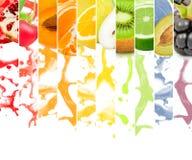 Éclaboussure de fruit Photos stock