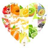 Éclaboussure de fruit Images stock