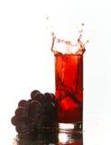 Éclaboussure de jus de raisins Photo libre de droits