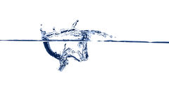 Éclaboussure de l'eau bleue Images libres de droits