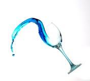 Éclaboussure de l'eau bleue photo stock