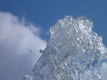 Éclaboussure de l'eau dans le ciel Image libre de droits