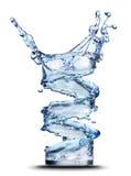 Éclaboussure de l'eau en glace d'isolement sur le blanc image stock