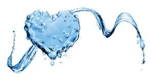 Éclaboussure de l'eau sous forme de coeur Photos libres de droits
