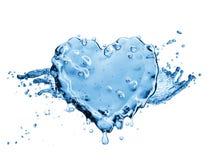 Éclaboussure de l'eau sous forme de coeur Photographie stock libre de droits