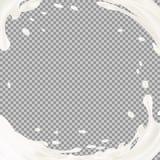 Éclaboussure de lait avec l'ombre au-dessus du fond transparent Illustration du vecteur 3d illustration de vecteur