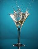 Éclaboussure de Martini photo stock