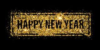 Éclaboussure 2017 de paillettes de scintillement d'or de nouvelle année Image libre de droits