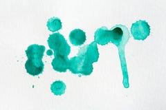 Éclaboussure de peinture d'aquarelle Photographie stock libre de droits