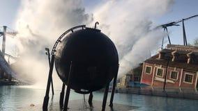 Éclaboussure de raz-de-marée chez Thorpe Park image libre de droits