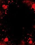 Éclaboussure de sang transformée en cadre Photos libres de droits