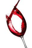 Éclaboussure de vin rouge Photos stock