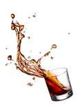 Éclaboussure de whiskey photo stock