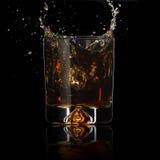 Éclaboussure de whiskey Image libre de droits