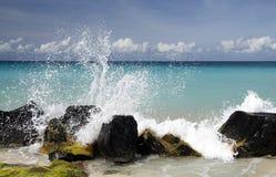 Éclaboussure des Caraïbe Photos stock