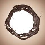 Éclaboussure dynamique liquide de boissons de chocolat ou de café Photo libre de droits