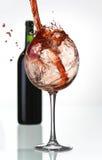 Éclaboussure folle de vin Photos libres de droits