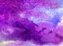 Éclaboussure fraîche de tempête de vague de mer de fond d'abrégé sur art d'aquarelle la belle a donné à l'imagination une consist Image stock