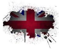 Éclaboussure grunge de peinture d'indicateur BRITANNIQUE Photographie stock