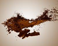 Éclaboussure liquide d'isolement Illustration de Vecteur