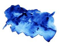 Éclaboussure magique d'aquarelle bleue Images stock