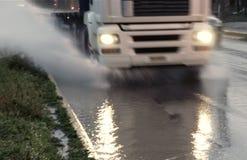 Éclaboussure mobile de camion de l'eau photos libres de droits